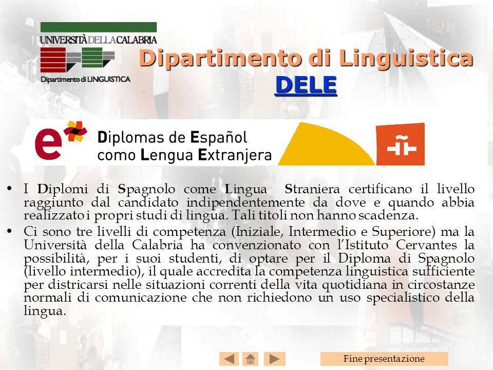Dipartimento di Linguistica DELE