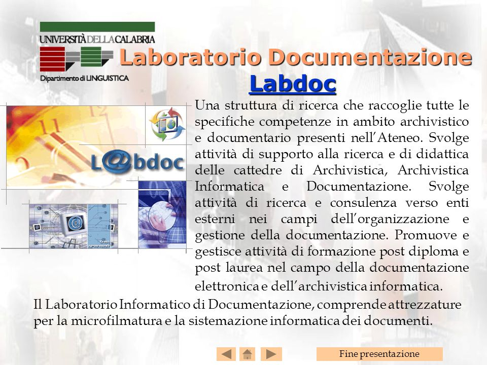 Laboratorio Documentazione Labdoc