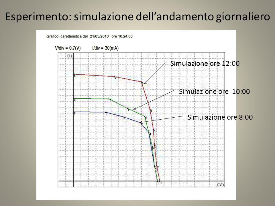 Esperimento: simulazione dell'andamento giornaliero