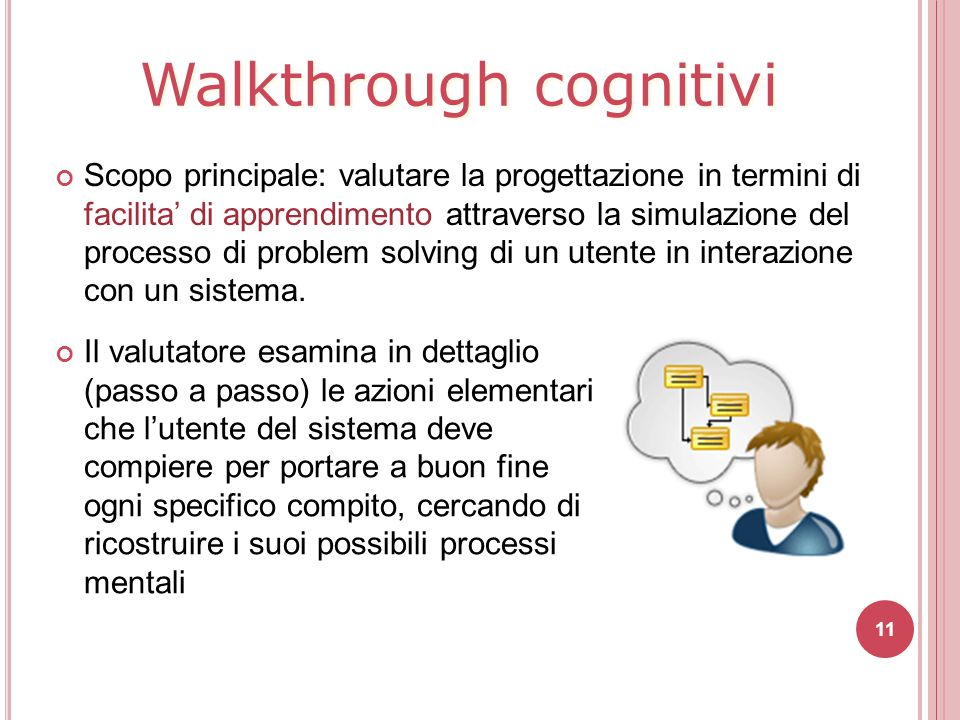 Walkthrough cognitivi