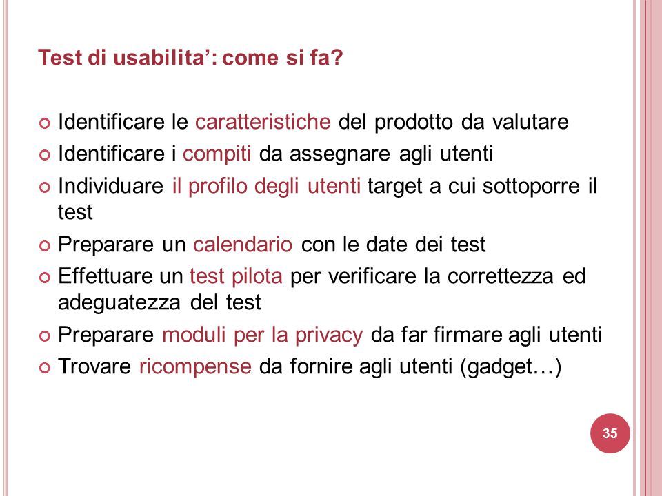 Test di usabilita': come si fa