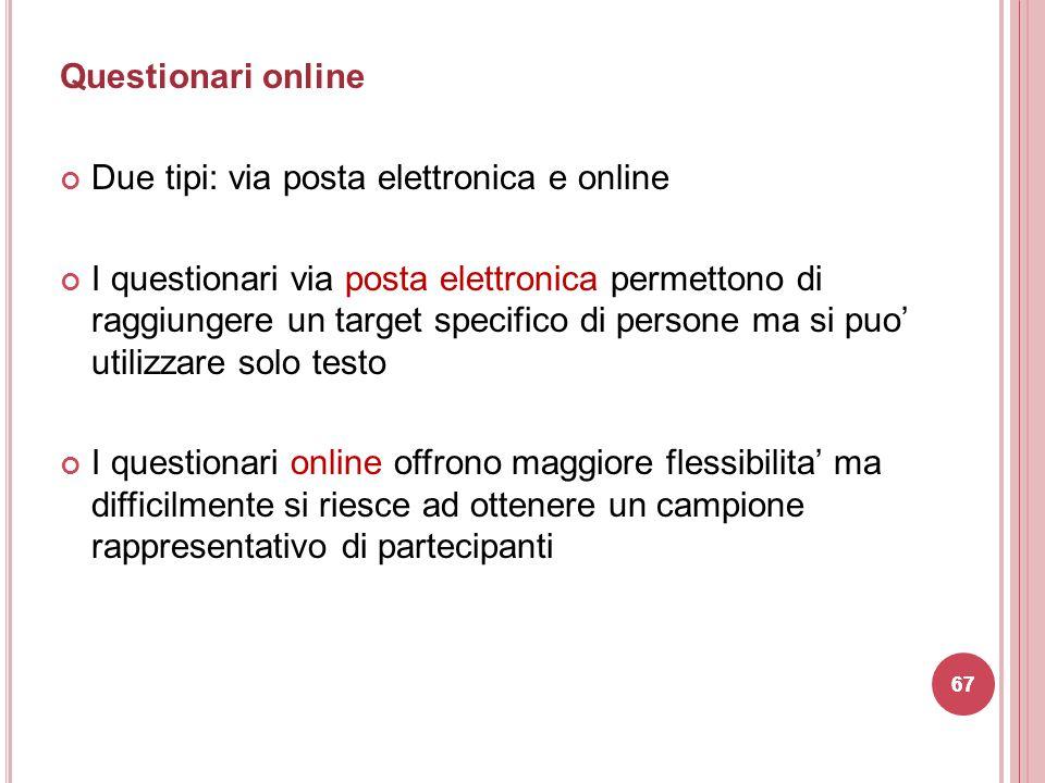 Due tipi: via posta elettronica e online