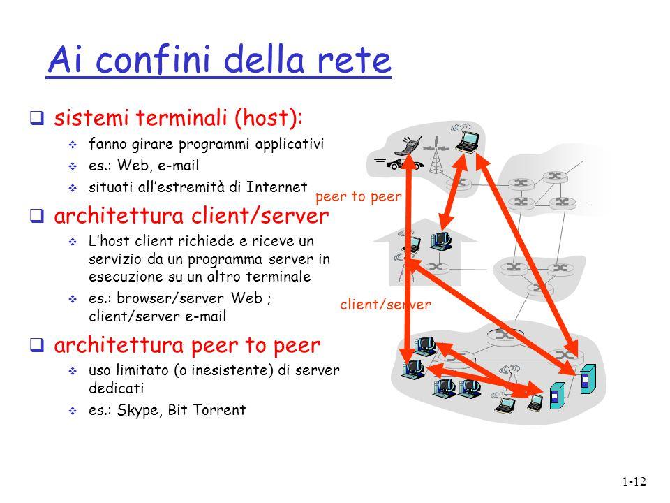 Ai confini della rete sistemi terminali (host):