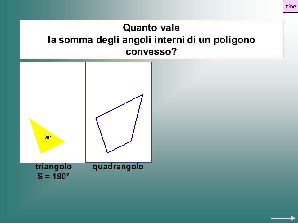 la somma degli angoli interni di un poligono convesso Quanto vale