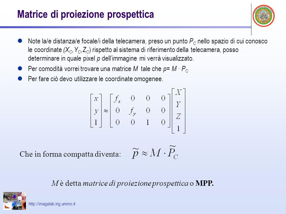 Matrice di proiezione prospettica
