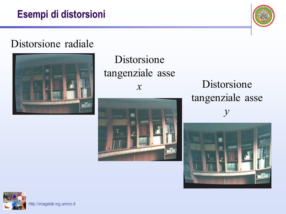 Distorsione tangenziale asse x