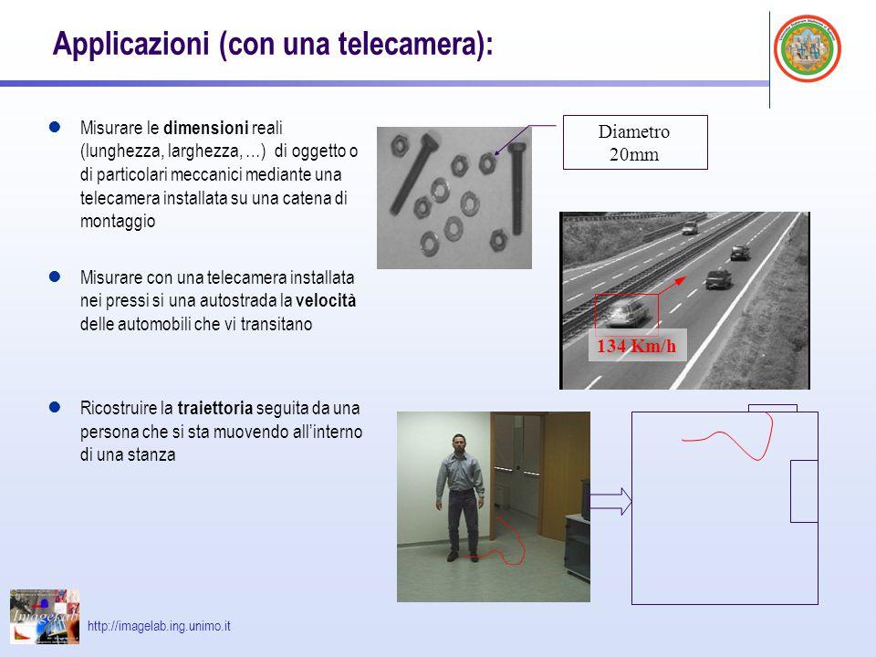 Applicazioni (con una telecamera):