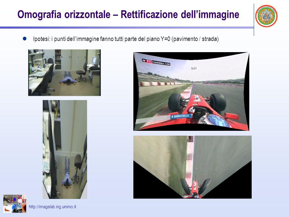 Omografia orizzontale – Rettificazione dell'immagine