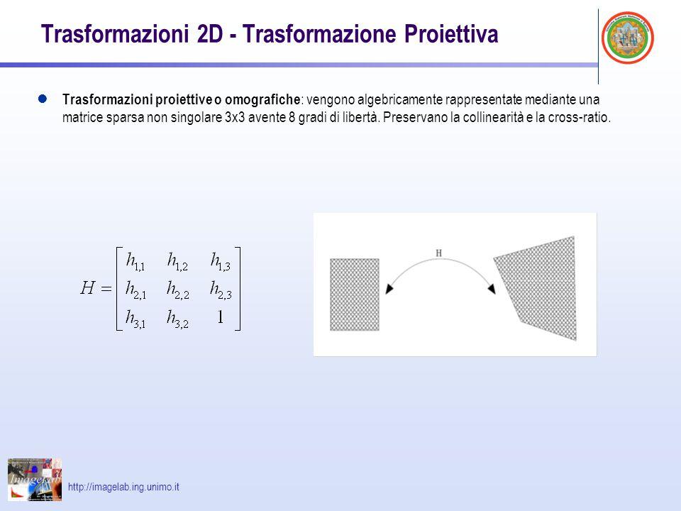 Trasformazioni 2D - Trasformazione Proiettiva