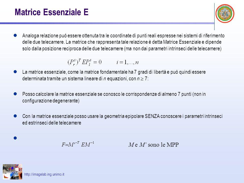 Matrice Essenziale E M e M' sono le MPP