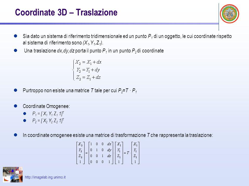 Coordinate 3D – Traslazione
