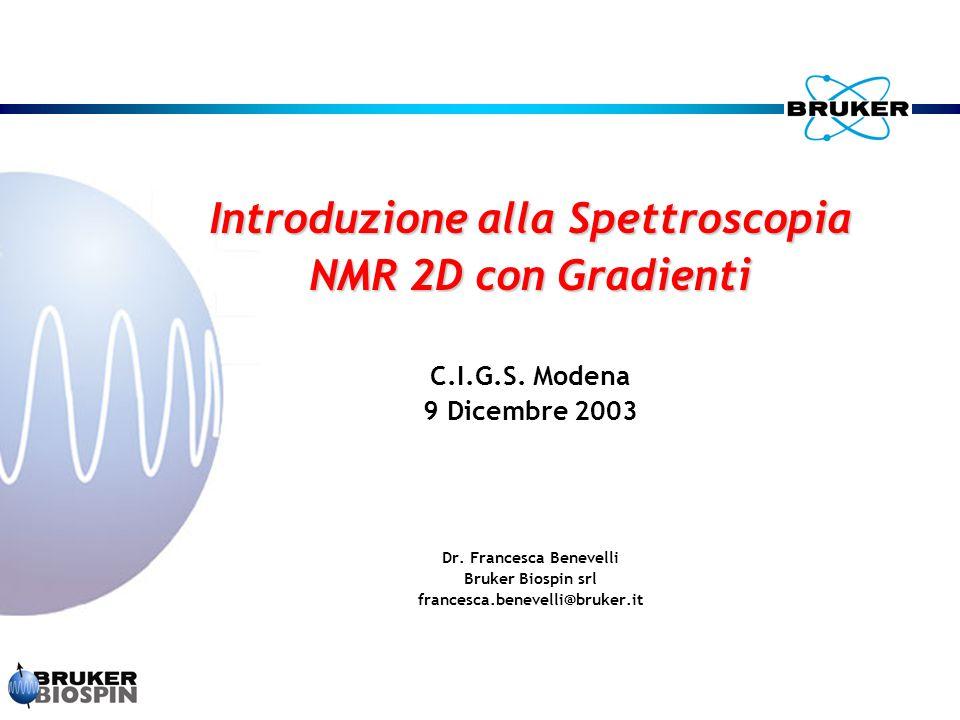 Introduzione alla Spettroscopia Dr. Francesca Benevelli