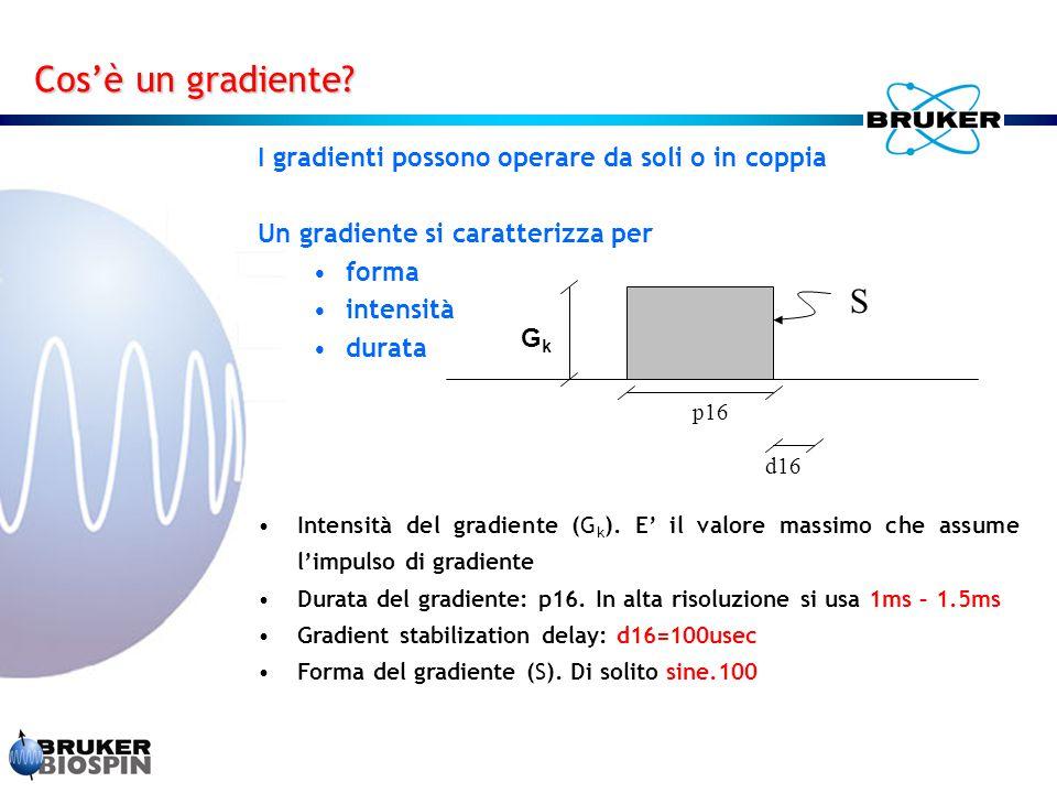 Cos'è un gradiente S I gradienti possono operare da soli o in coppia
