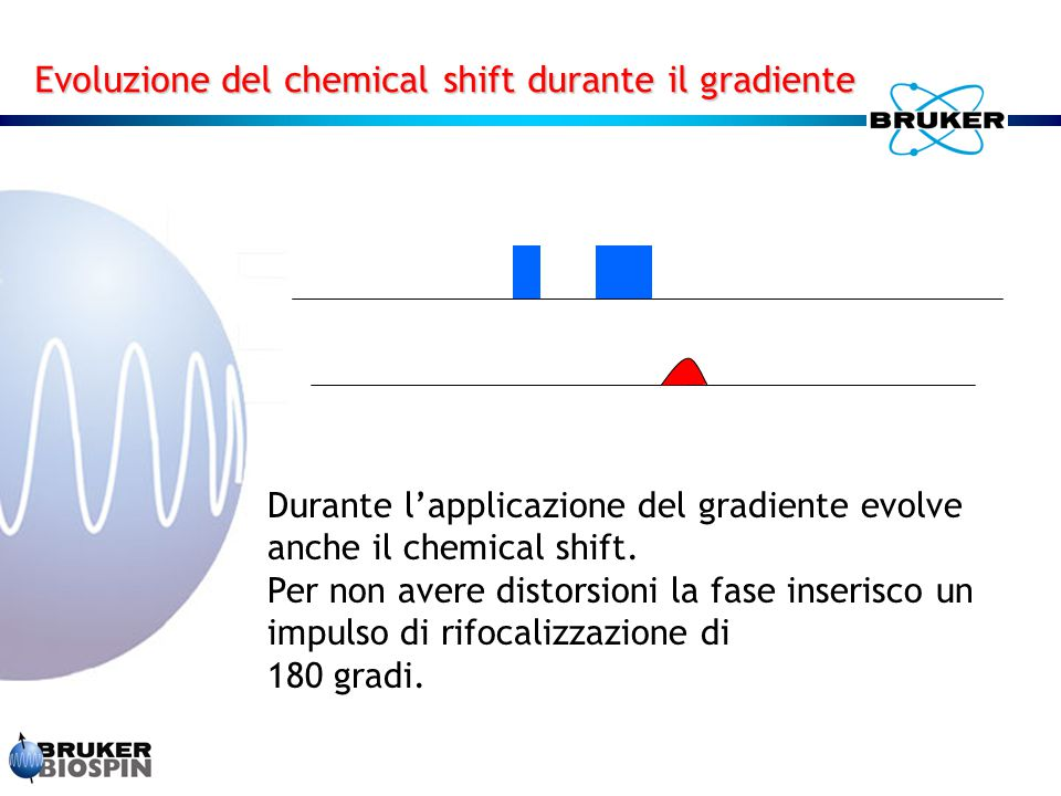 Evoluzione del chemical shift durante il gradiente