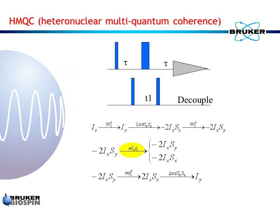 HMQC (heteronuclear multi-quantum coherence)