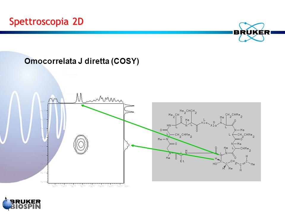 Spettroscopia 2D Omocorrelata J diretta (COSY)