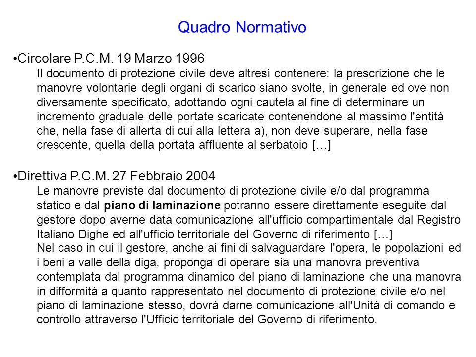 Quadro Normativo Circolare P.C.M. 19 Marzo 1996