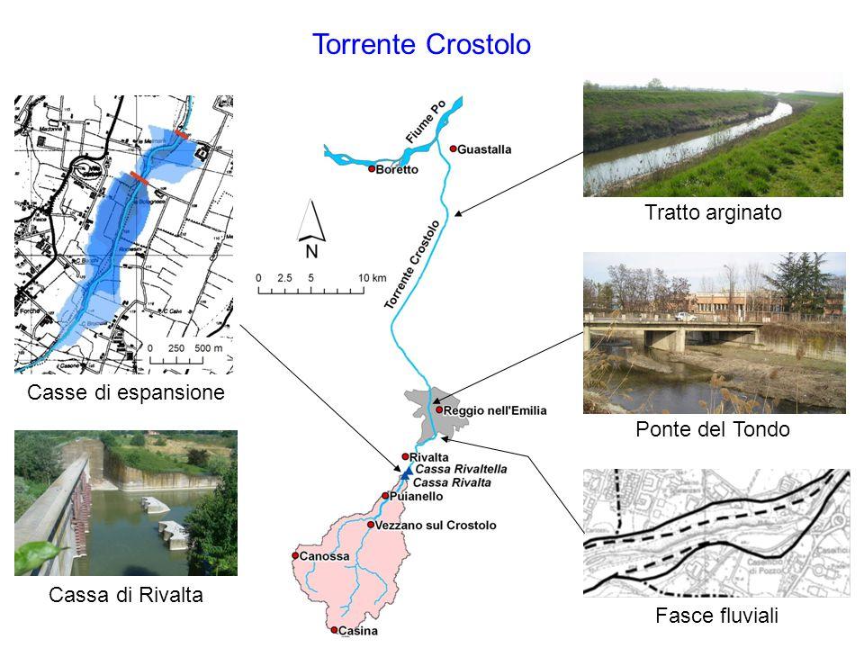 Torrente Crostolo Tratto arginato Casse di espansione Ponte del Tondo