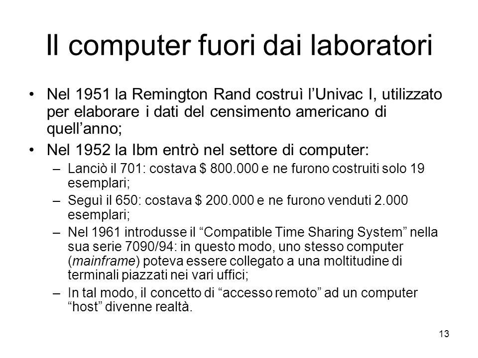 Il computer fuori dai laboratori