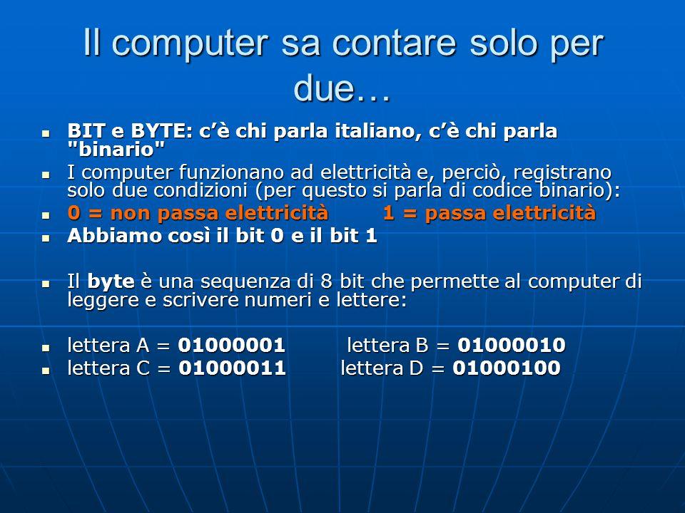 Il computer sa contare solo per due…