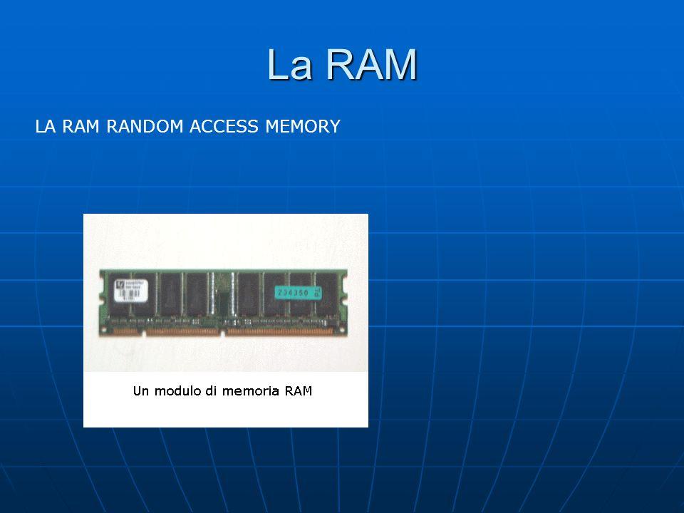La RAM LA RAM RANDOM ACCESS MEMORY