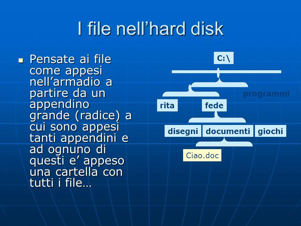 I file nell'hard disk