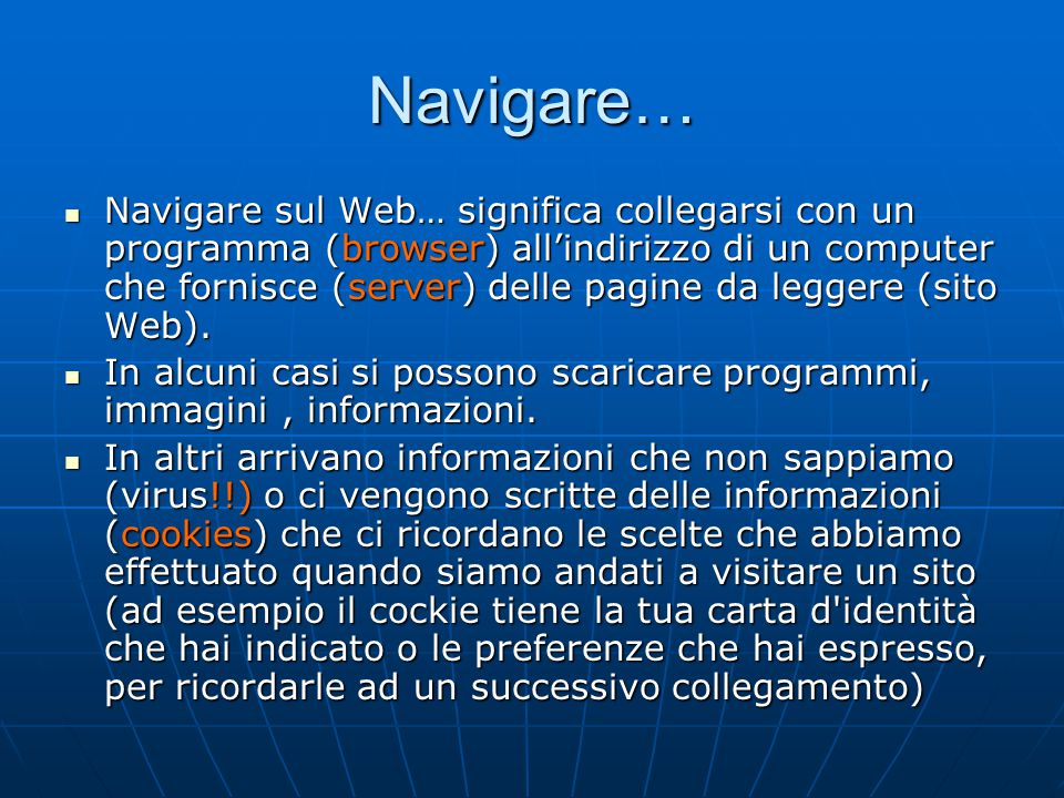Navigare…