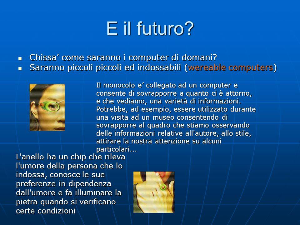E il futuro Chissa' come saranno i computer di domani
