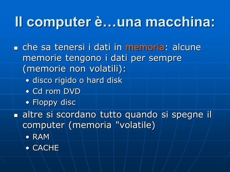 Il computer è…una macchina: