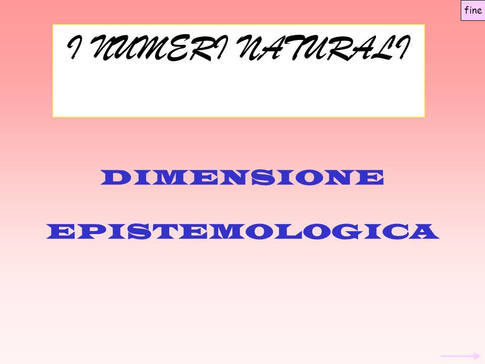 DIMENSIONE EPISTEMOLOGICA
