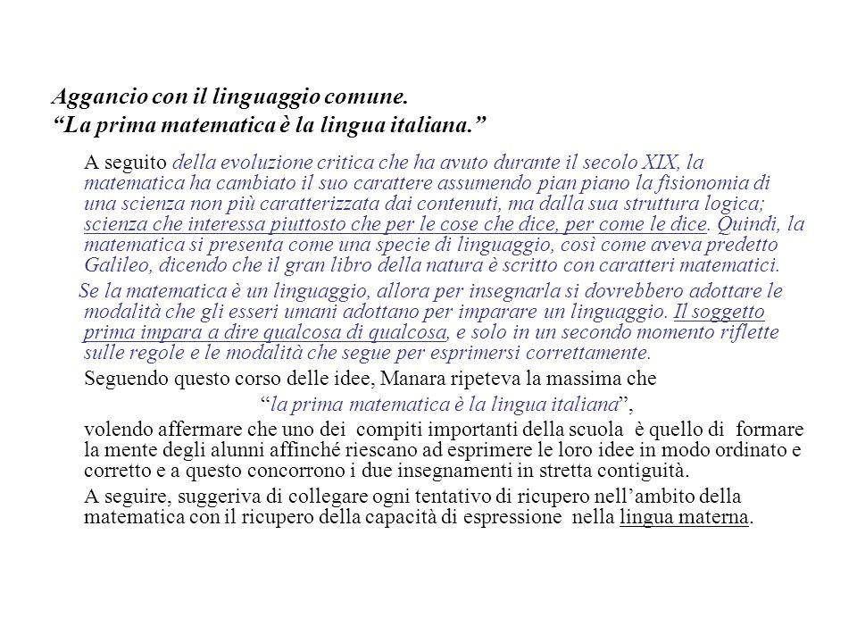la prima matematica è la lingua italiana ,