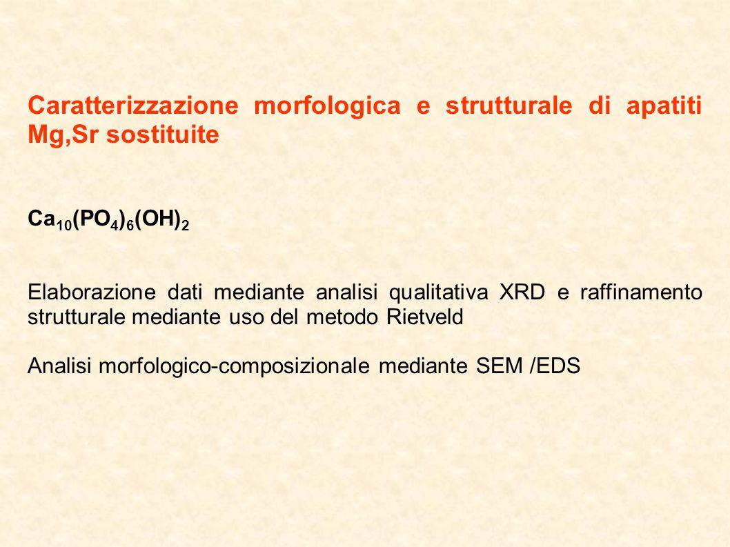 Caratterizzazione morfologica e strutturale di apatiti Mg,Sr sostituite
