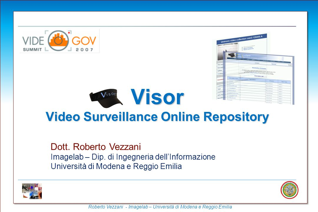 Visor Video Surveillance Online Repository