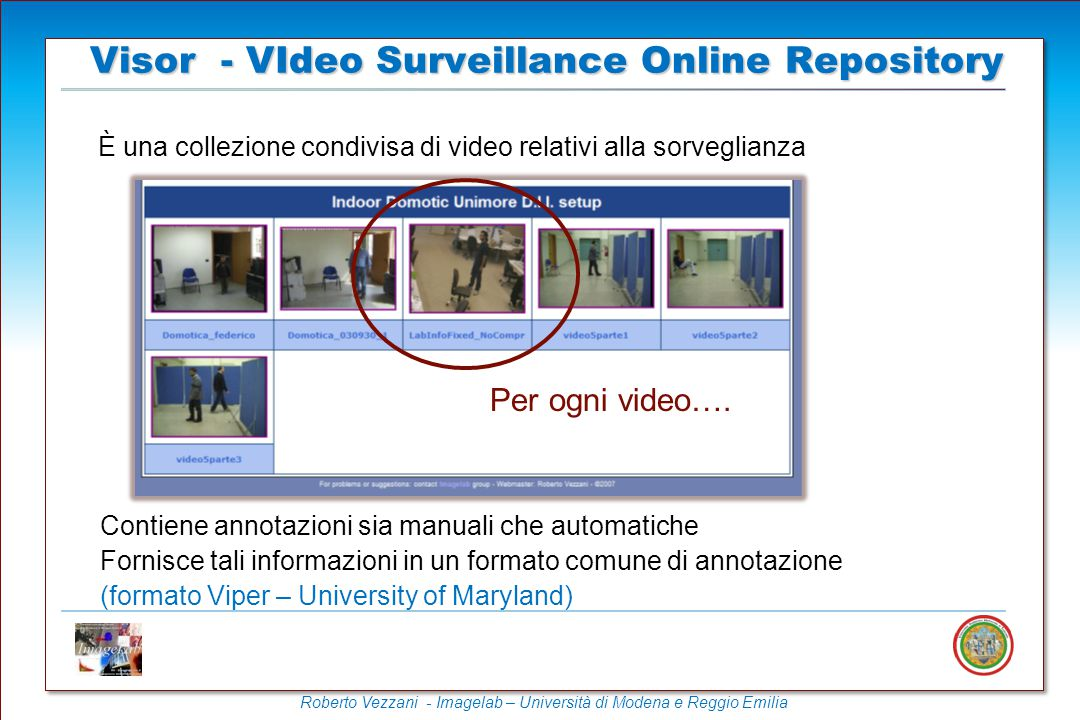 Visor - VIdeo Surveillance Online Repository