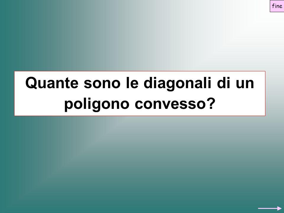 Quante sono le diagonali di un poligono convesso
