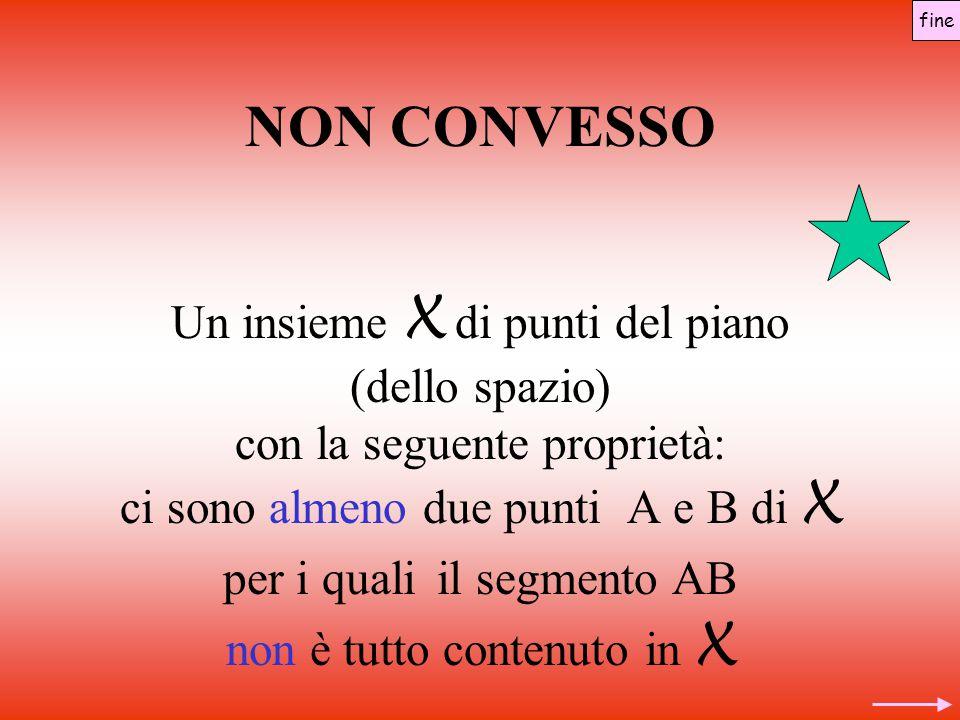 NON CONVESSO Un insieme X di punti del piano (dello spazio)