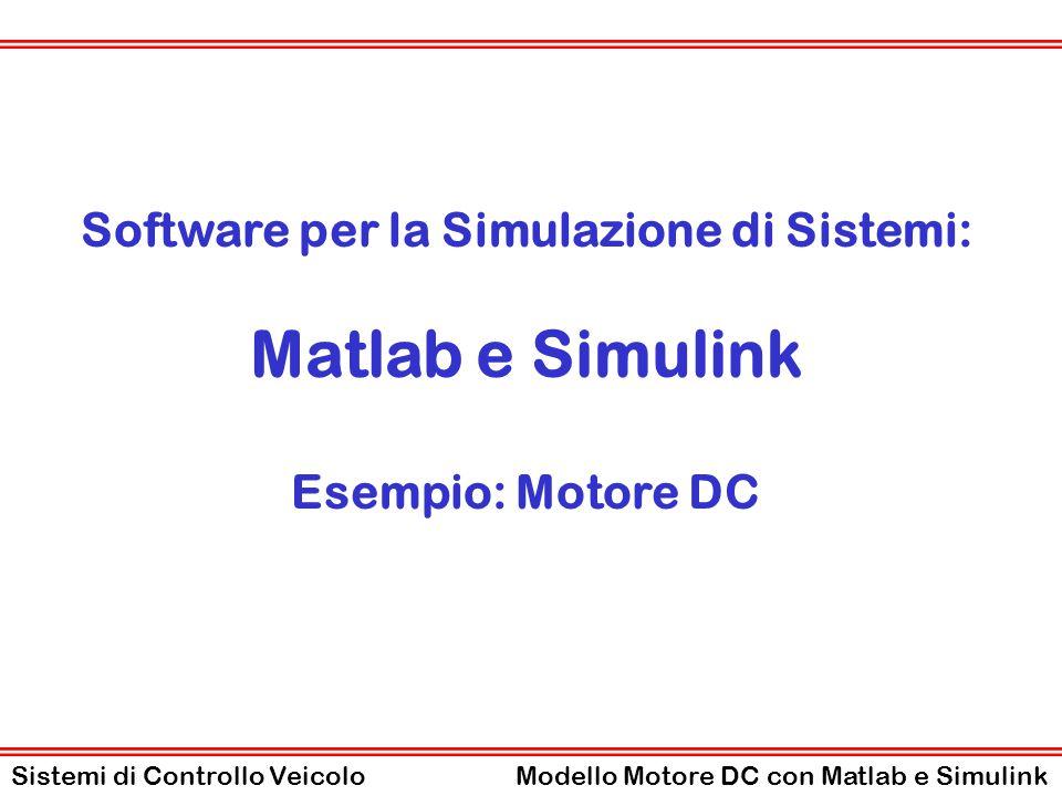 Software per la Simulazione di Sistemi: