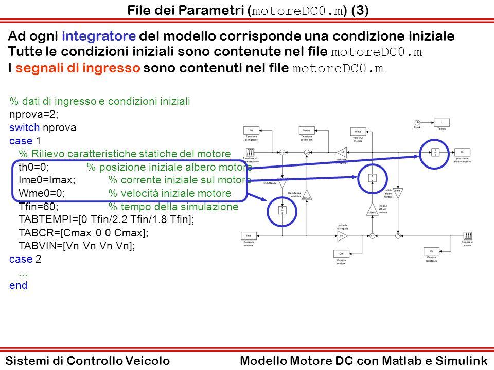 File dei Parametri (motoreDC0.m) (3)