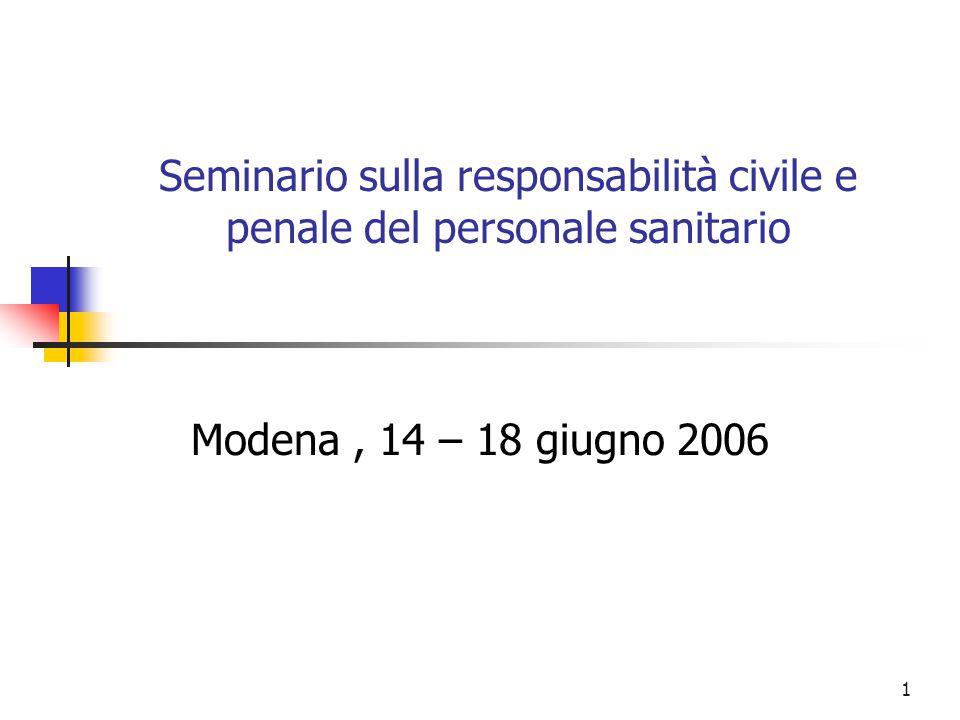 Seminario sulla responsabilità civile e penale del personale sanitario