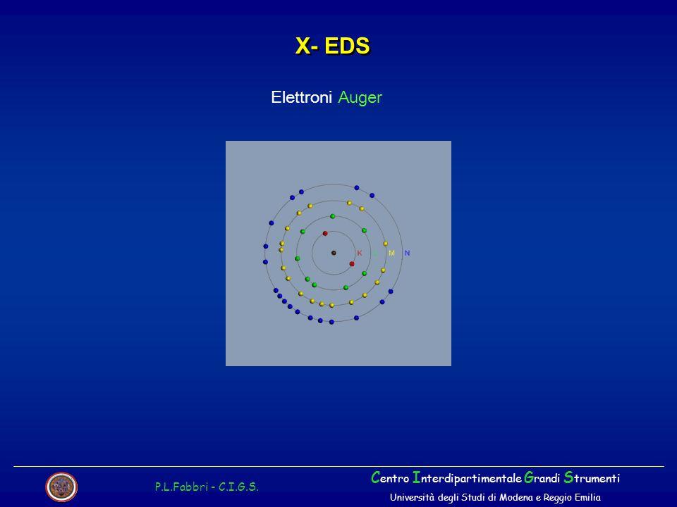 X- EDS Elettroni Auger Centro Interdipartimentale Grandi Strumenti