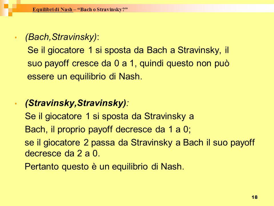 Equilibri di Nash – Bach o Stravinsky