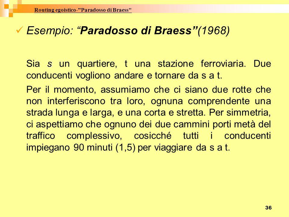Routing egoistico- Paradosso di Braess