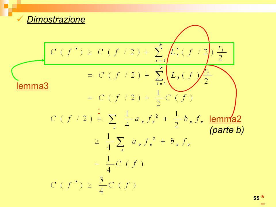 Dimostrazione lemma3 * lemma2 (parte b)
