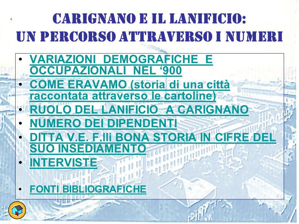 Carignano e il Lanificio: un percorso attraverso i numeri