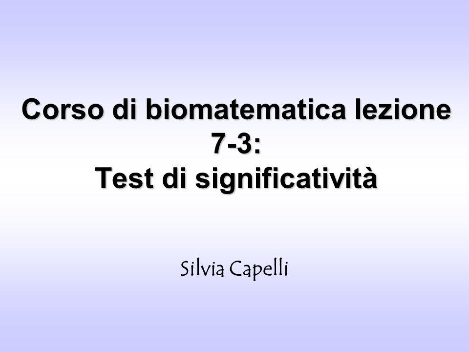 Corso di biomatematica lezione 7-3: Test di significatività