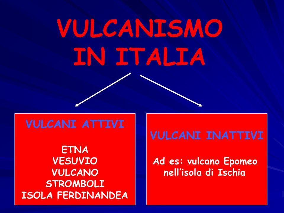 VULCANISMO IN ITALIA VULCANI ATTIVI VULCANI INATTIVI ETNA VESUVIO