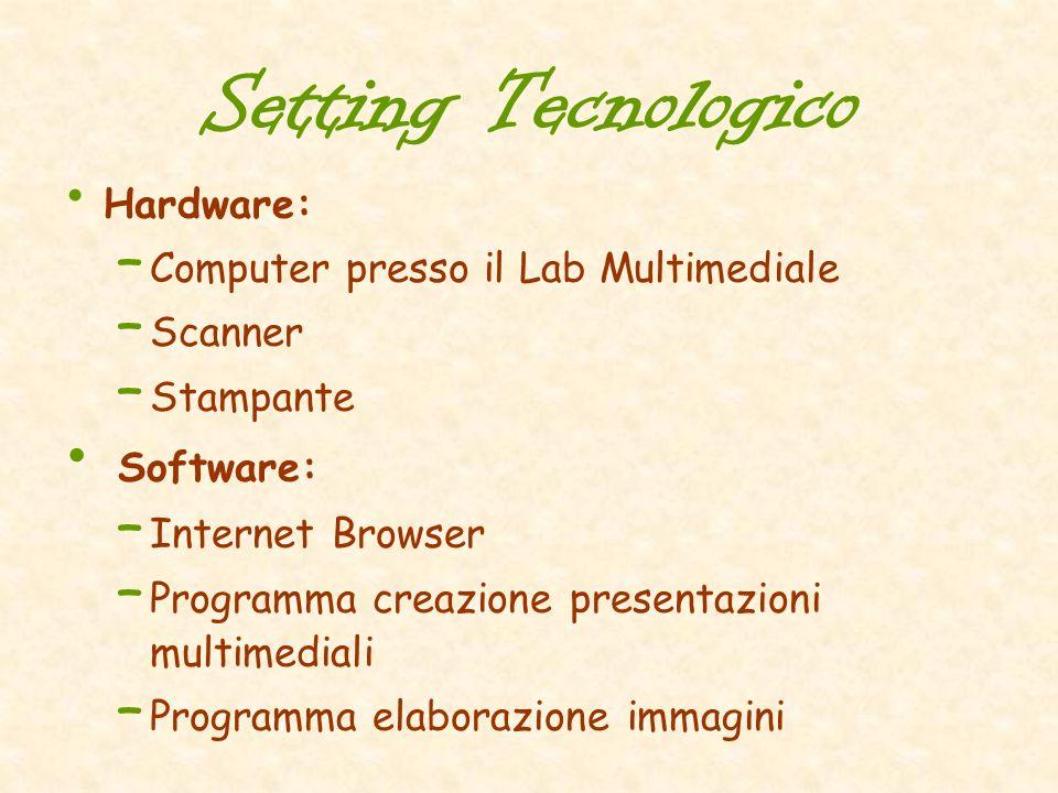 Setting Tecnologico Hardware: Computer presso il Lab Multimediale