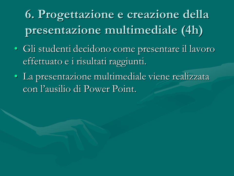 6. Progettazione e creazione della presentazione multimediale (4h)