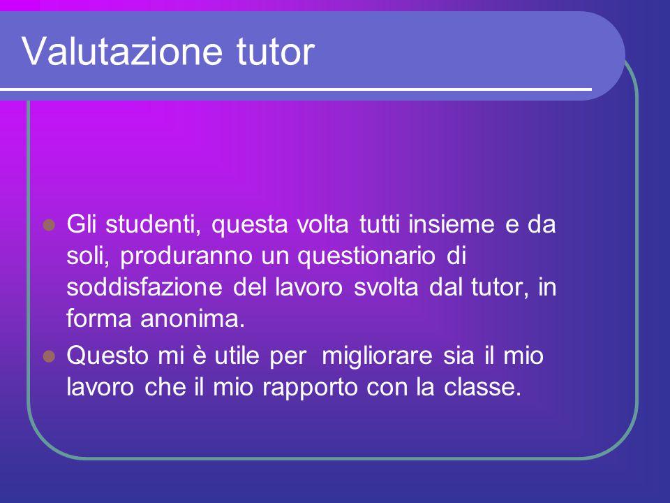 Valutazione tutor