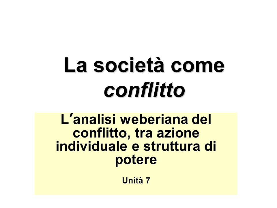 La società come conflitto